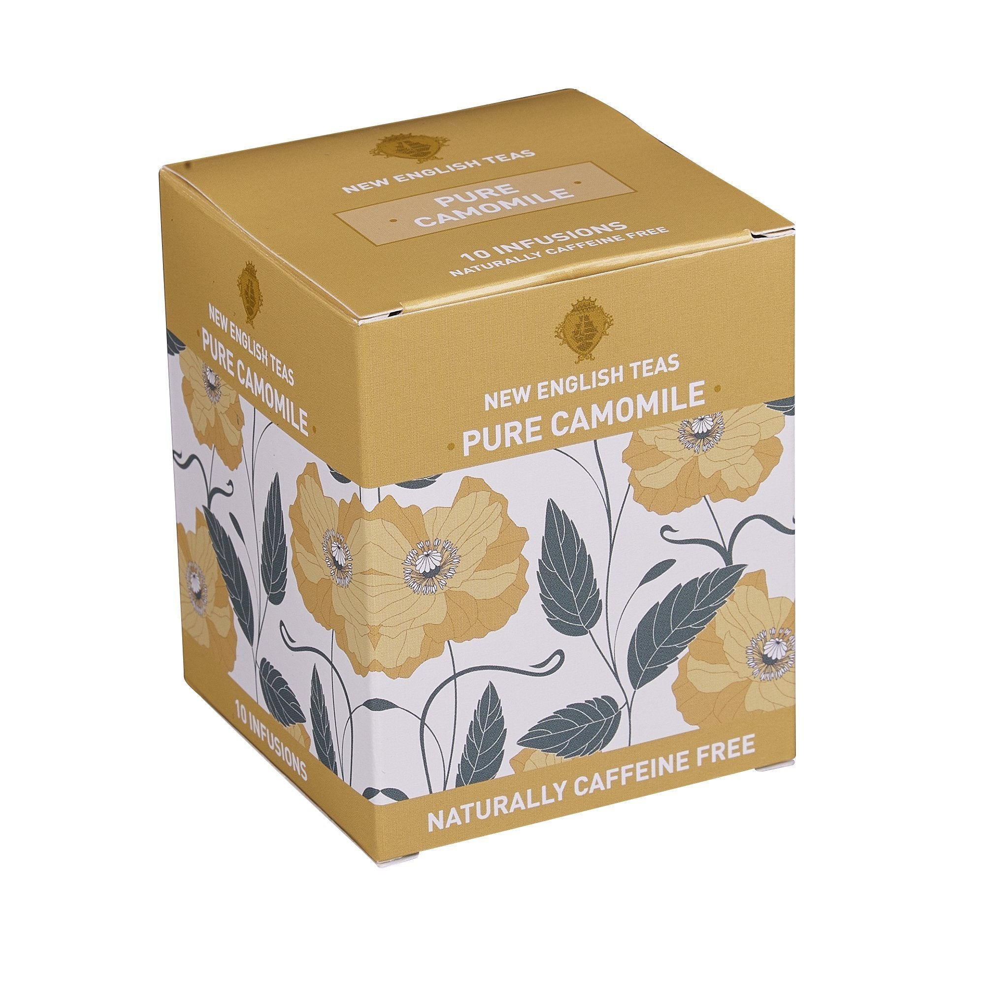 Pure Camomile Tea 10 Individually Wrapped Teabags Herbal Tea New English Teas