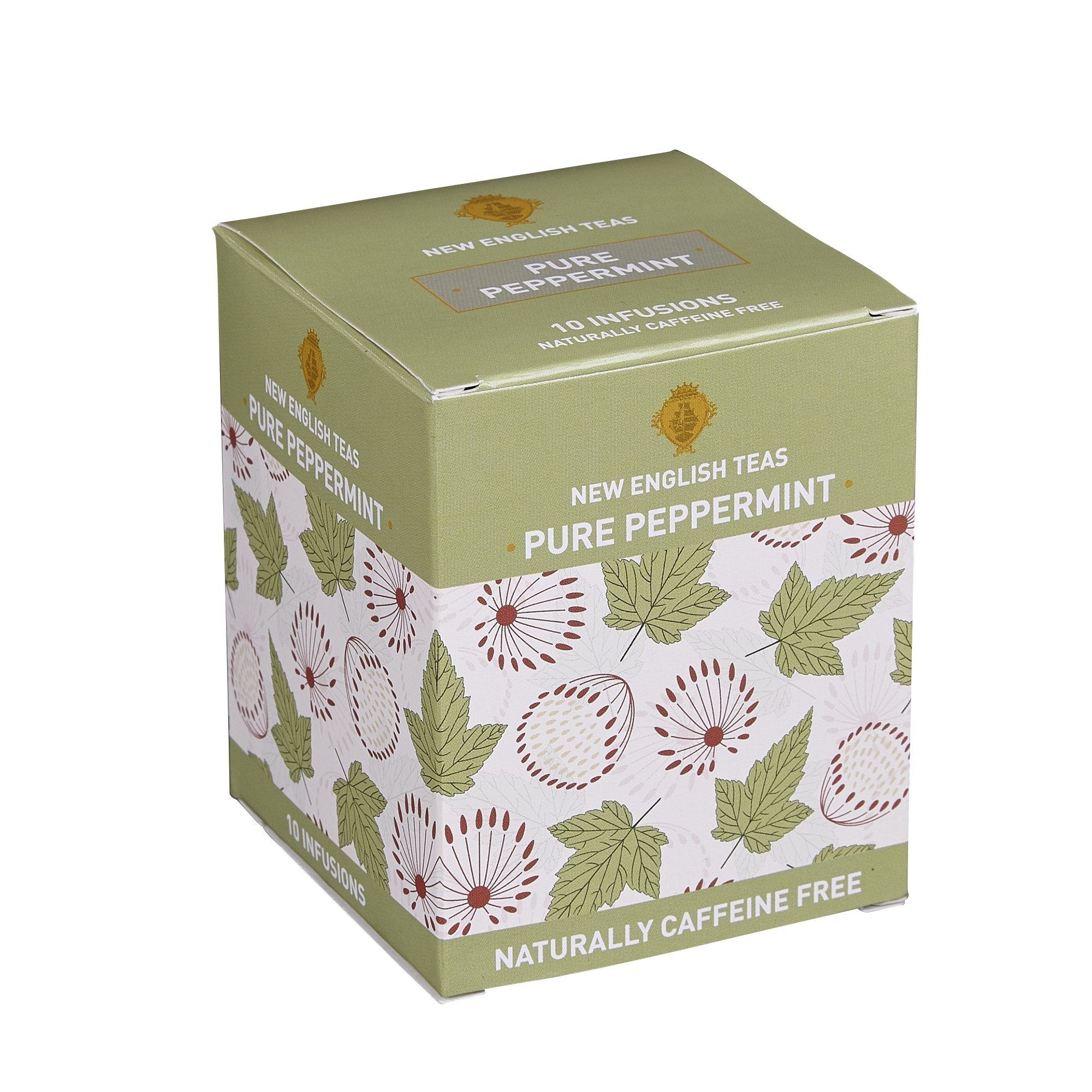 Pure Peppermint Tea 10 Individually Wrapped Teabags Herbal Tea New English Teas