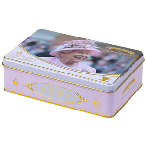 Queen Elizabeth II Tea Tin with 72 teabag selection Black Tea New English Teas
