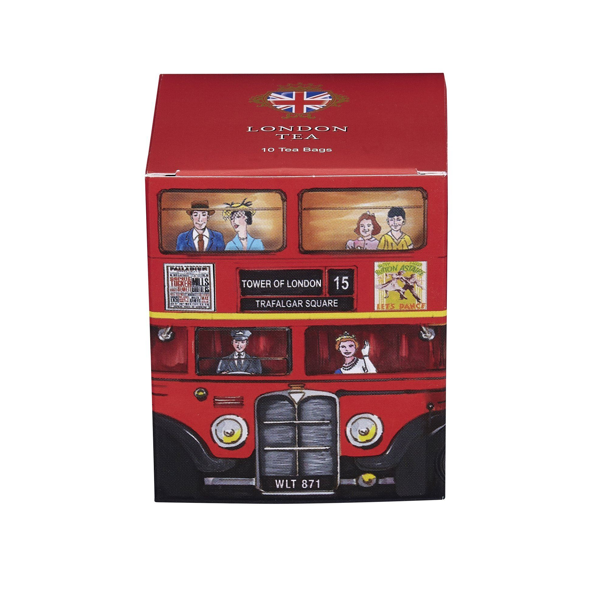 Red London Bus London Tea 10 Teabag Carton Black Tea New English Teas