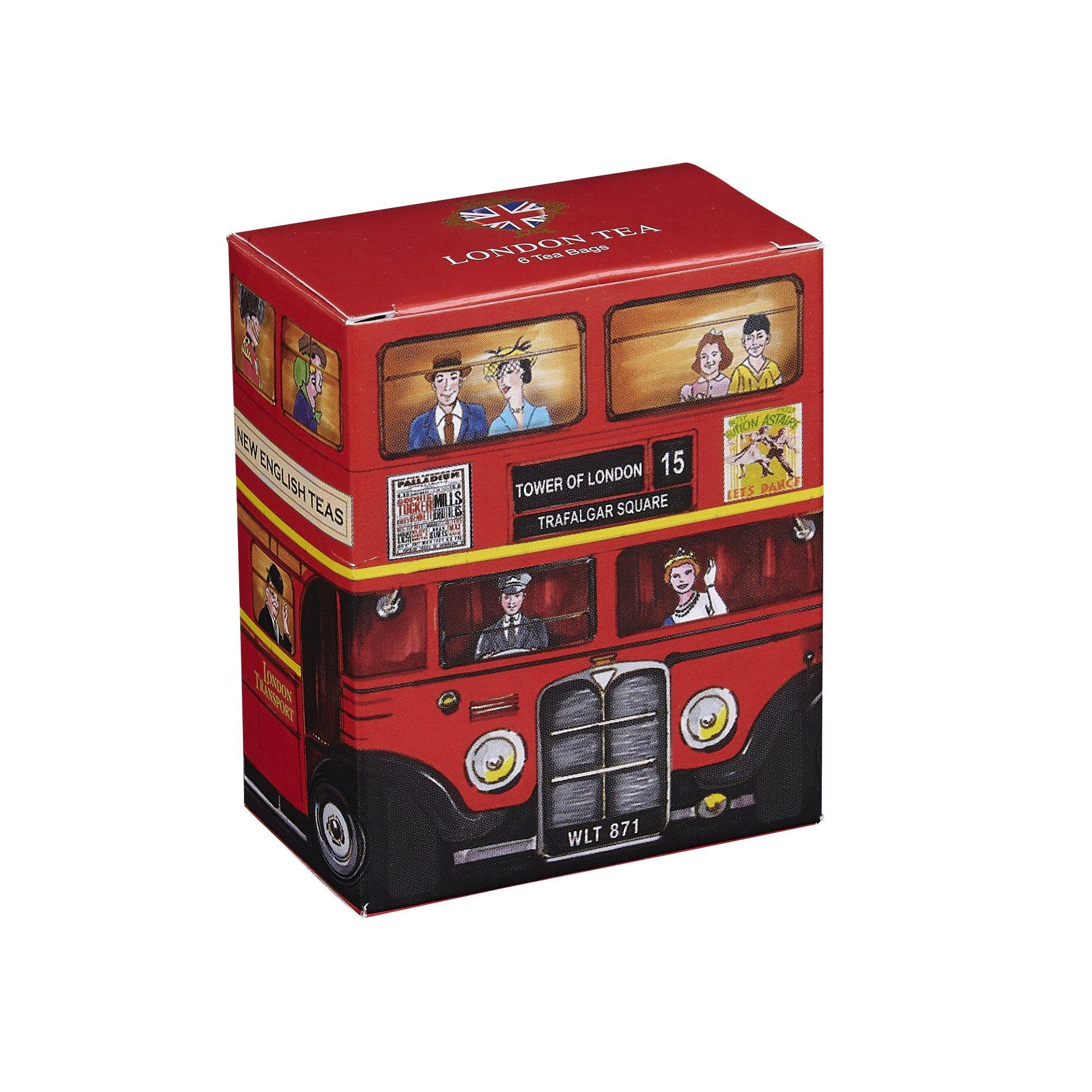 Red London Bus London Tea 6 Teabag Carton Black Tea New English Teas