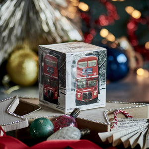 Red London Bus Snow Scene Breakfast Tea 10 Teabag Carton Black Tea New English Teas