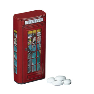 Red Telephone Box Sugar Free Mints With Flip Lid 25g Mints New English Teas