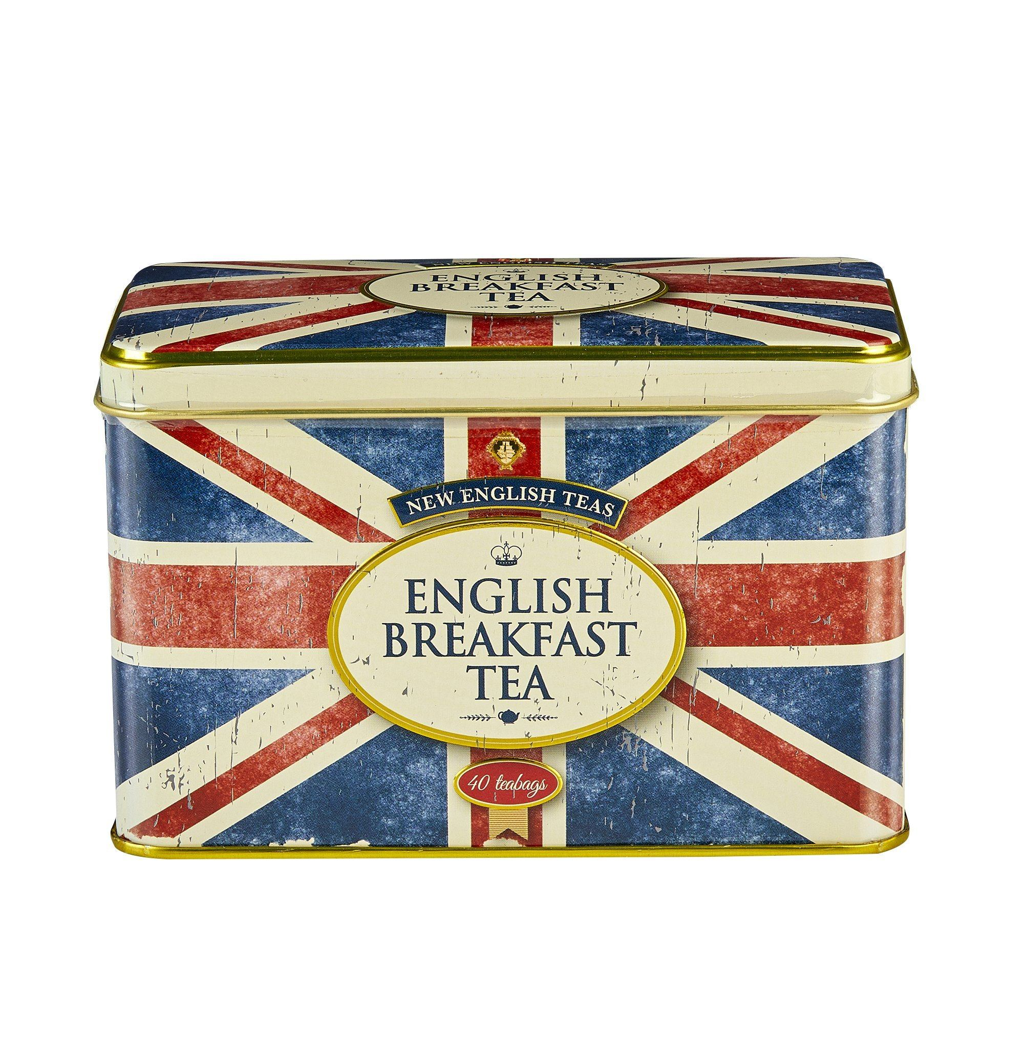 Retro Union Jack English Breakfast Tea Tin 40 Teabags Black Tea New English Teas