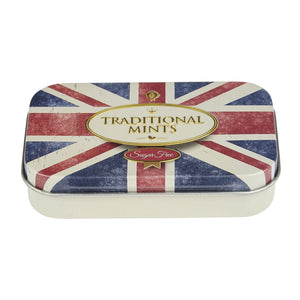 Retro Union Jack Sugar Free Mints Pocket Tin 35g Mints New English Teas