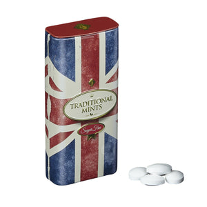 Retro Union Jack Sugar Free Mints With Flip Lid 25g Mints New English Teas