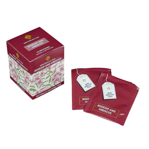 Rosehip and Hibiscus Tea 10 Individually Wrapped Teabags Herbal Tea New English Teas
