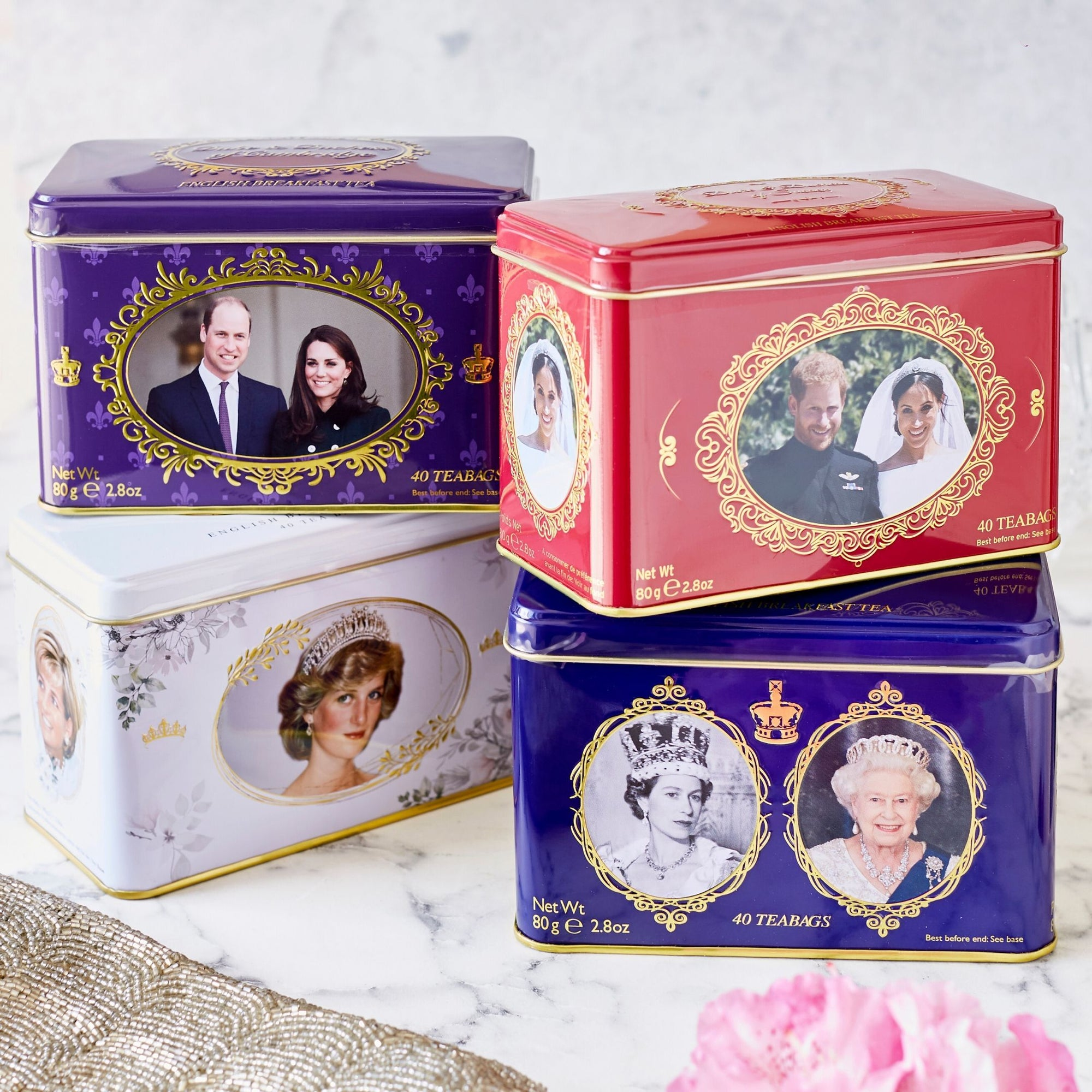 Royal Family Tea Tin Collection Black Tea New English Teas