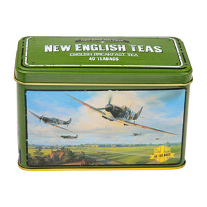 Spitfire Tea Tin with 40 English Breakfast teabags Black Tea New English Teas