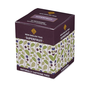 Superfruits Tea 10 Individually Wrapped Teabags Fruit Tea New English Teas