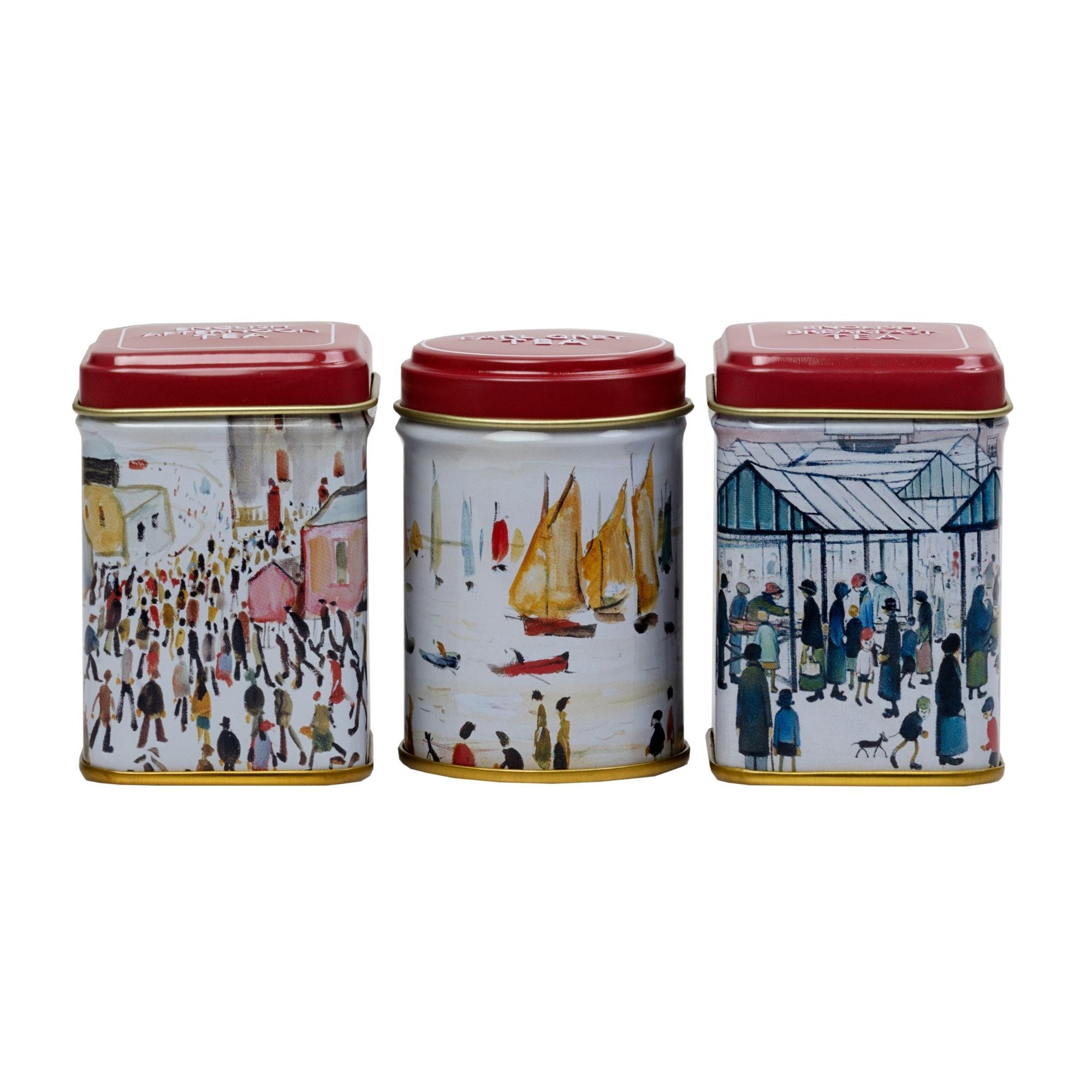 The Lowry Mini Tea Tins Gift Set, with loose-leaf tea Black Tea New English Teas
