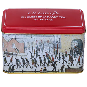 The Lowry Tea Tin with 40 English Breakfast Teabags Black Tea New English Teas