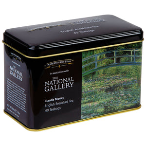 The National Gallery Monet Tea Tin 40 Teabags Black Tea New English Teas