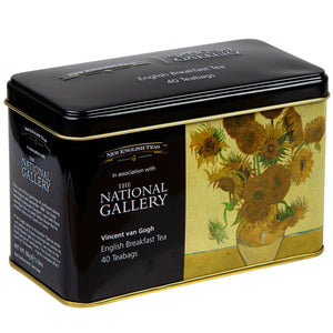 The National Gallery Van Gogh Sunflowers Tea Tin Black Tea New English Teas