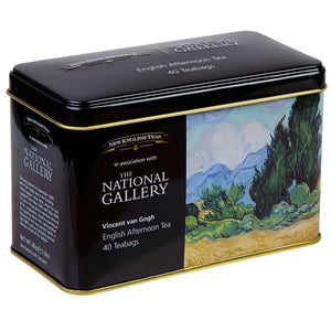 The National Gallery Van Gogh Wheatfield Tea Tin Black Tea New English Teas