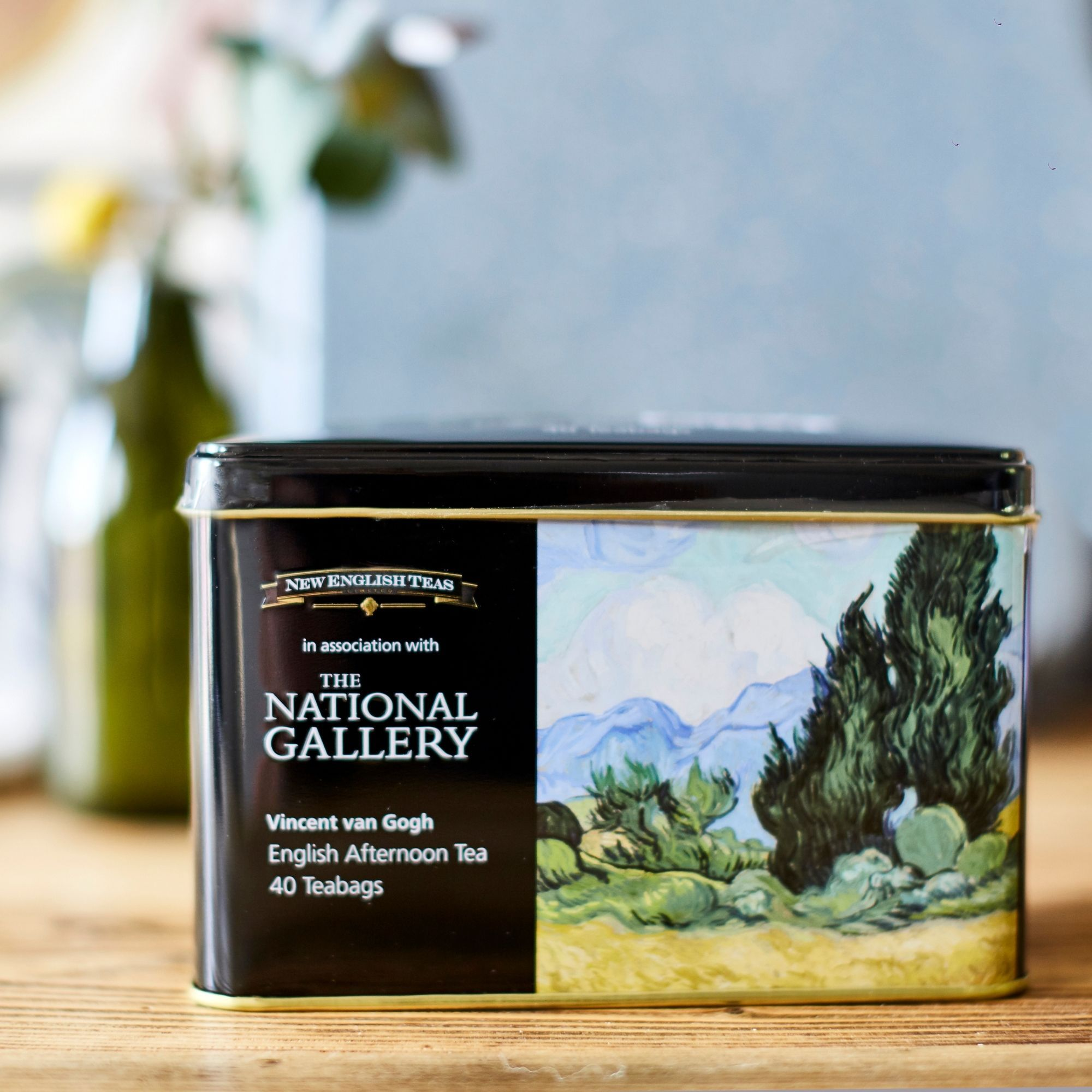 The National Gallery Van Gogh Wheatfield Tea Tin with 40 English Afternoon teabags Black Tea New English Teas