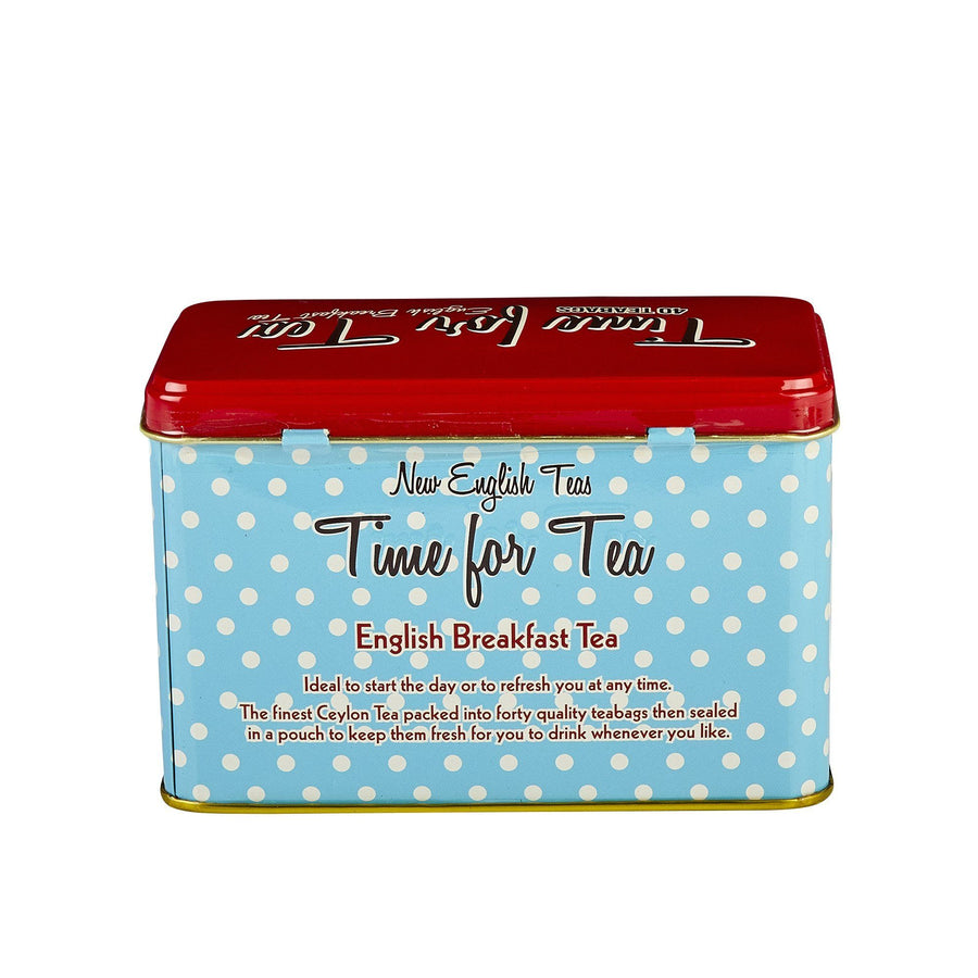 Time For Tea English Breakfast Tea Tin 40 Teabags Black Tea New English Teas