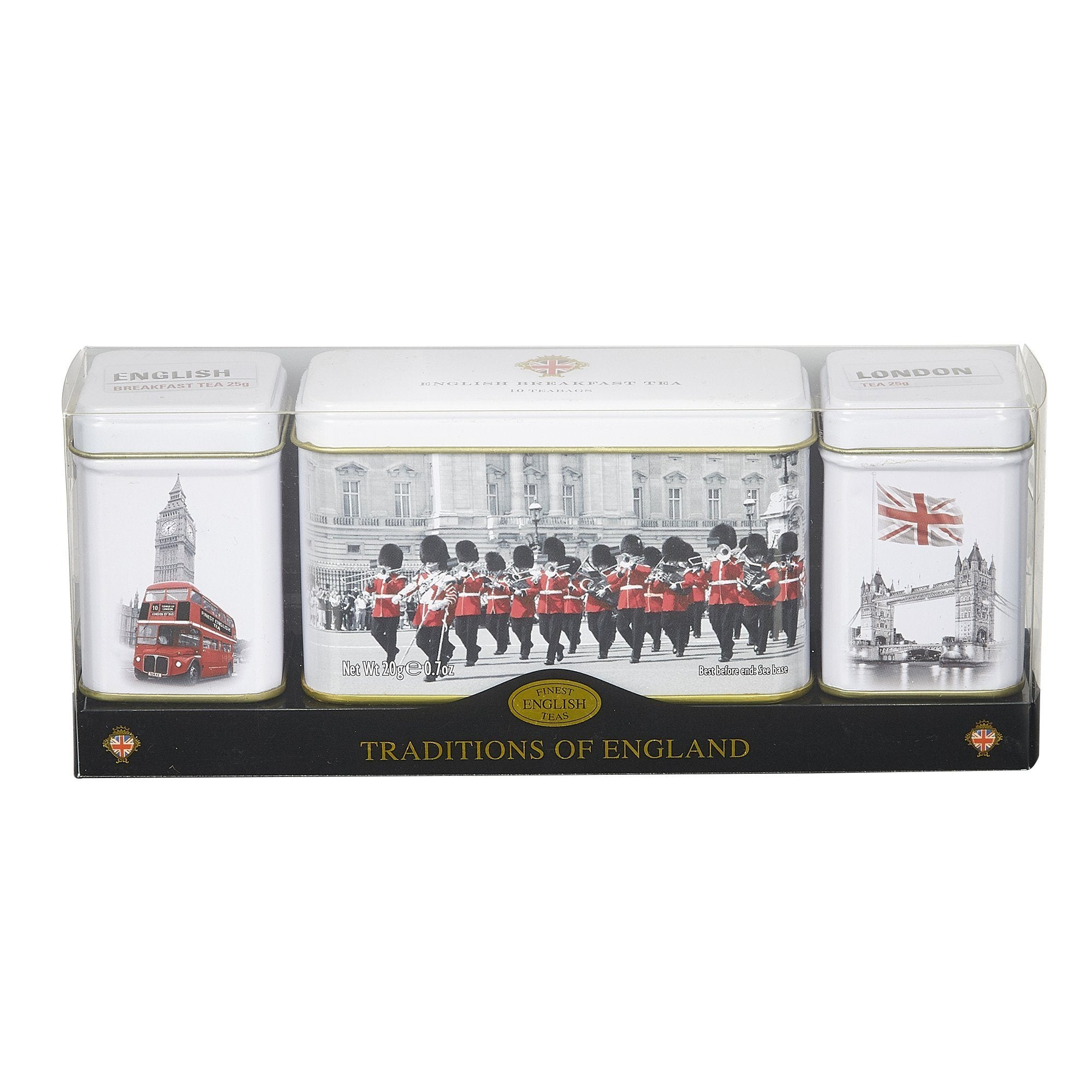 Traditions Of England Triple Tea Selection Mini Tin Gift Pack Black Tea New English Teas