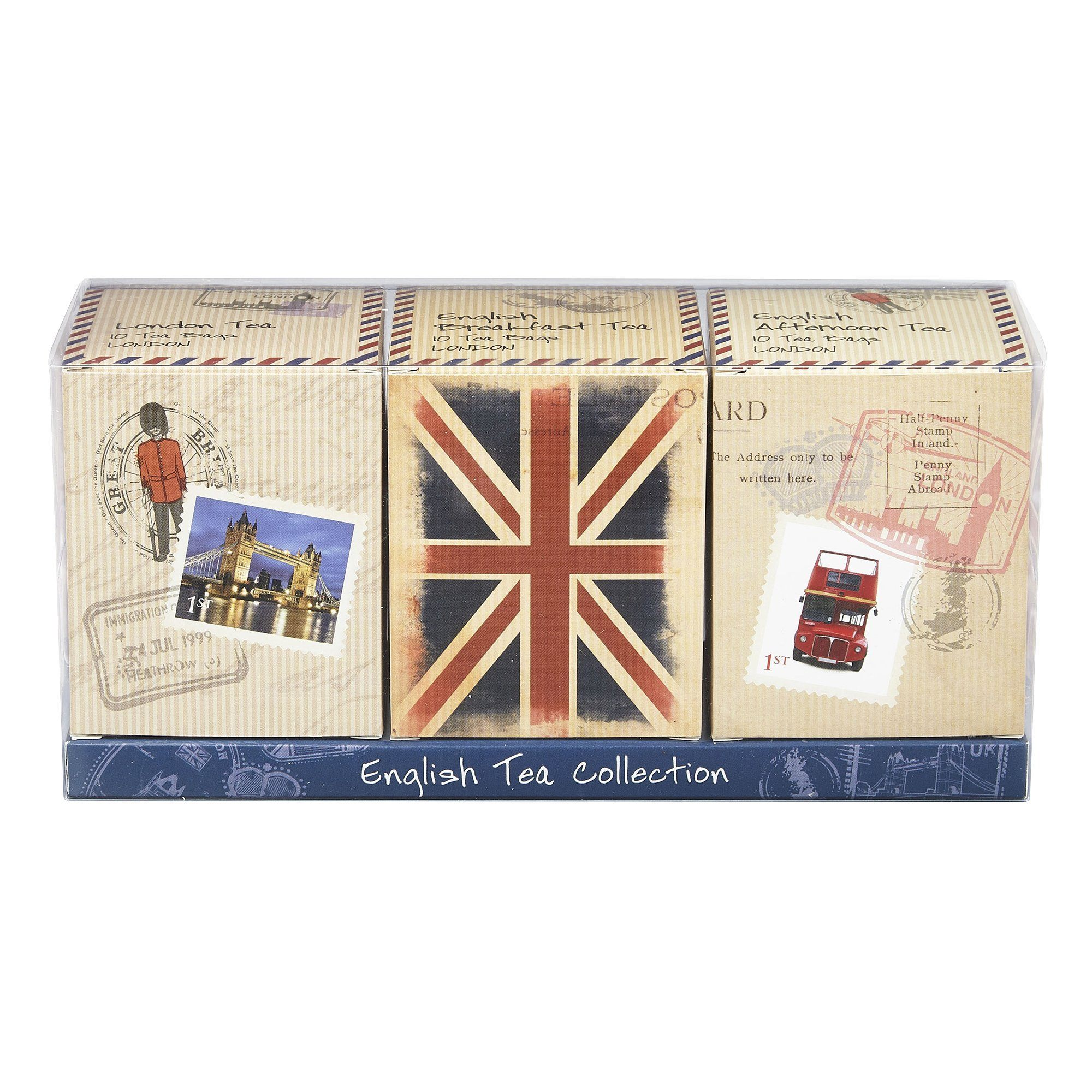 Travel Memories Triple English Tea Carton Gift Pack Black Tea New English Teas