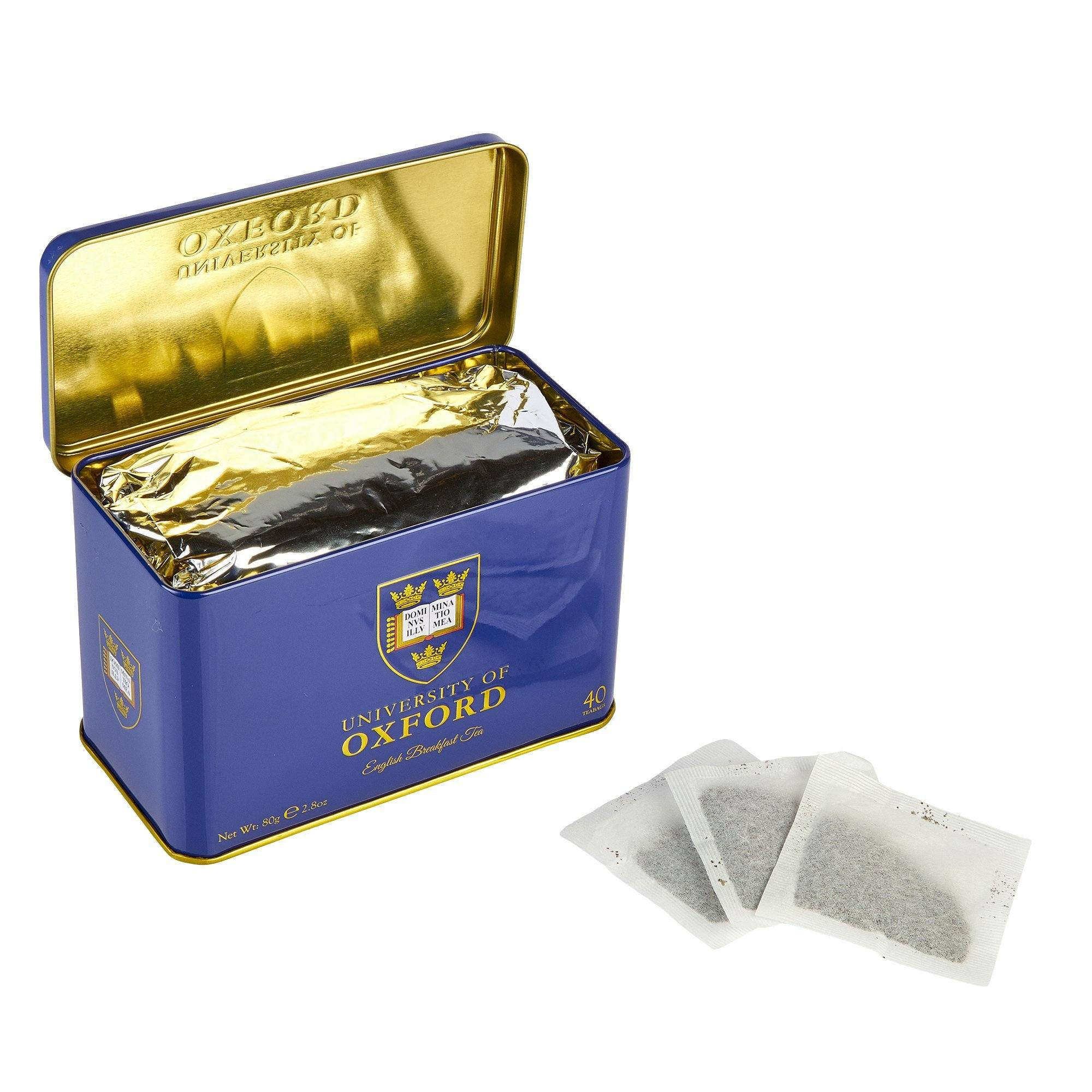 University Of Oxford English Breakfast Tea Tin 40 Teabags Black Tea New English Teas