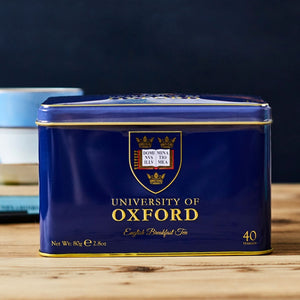 University of Oxford Tea Tin with 40 English Breakfast teabags Black Tea New English Teas