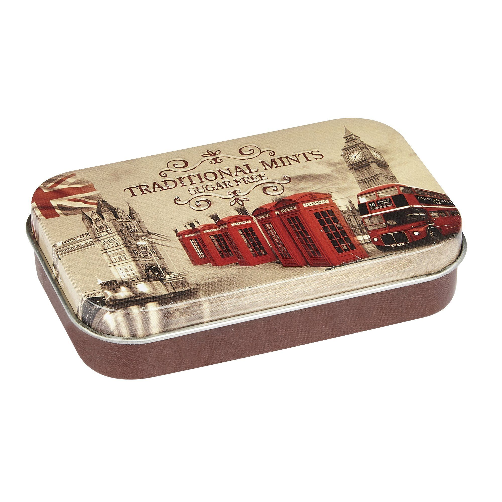 Vintage England Sugar Free Mints Pocket Tin 35g Mints New English Teas