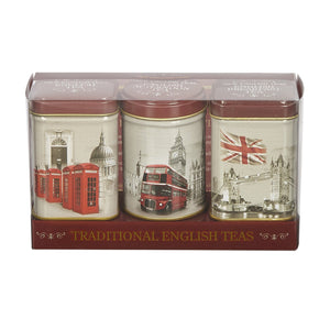 Vintage England Triple Tea Selection Mini Tin Gift Pack Black Tea New English Teas