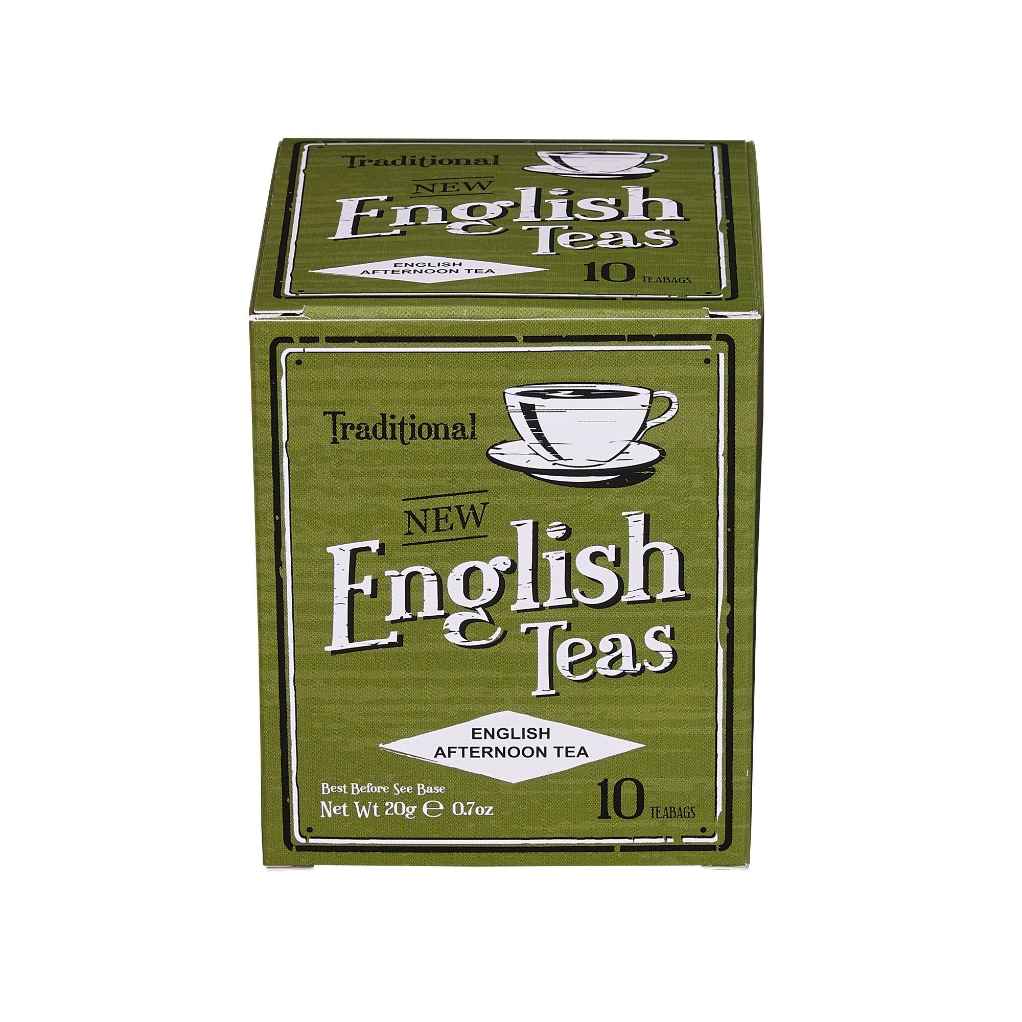Vintage English Afternoon Tea 10 Teabag Carton Black Tea New English Teas