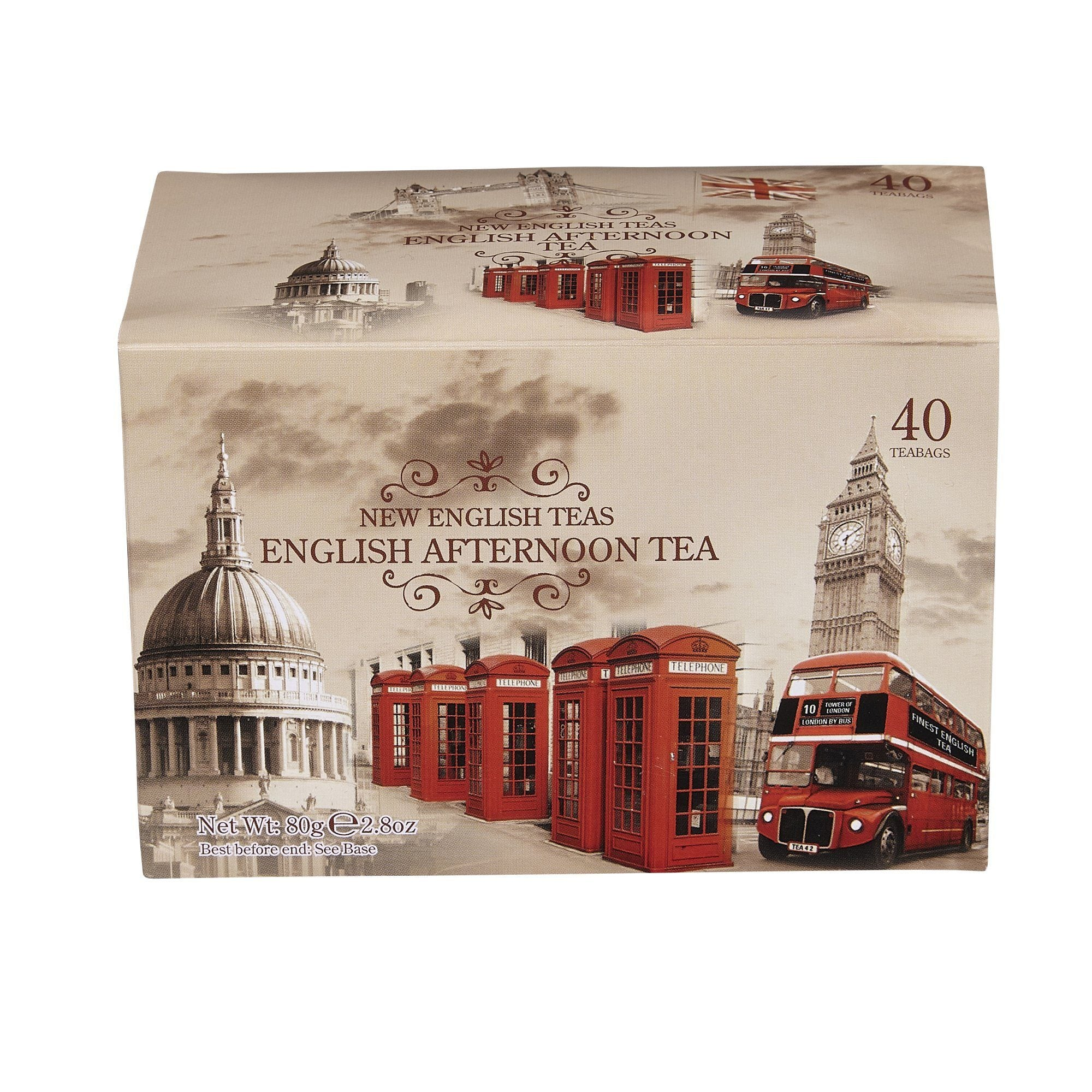 Vintage English Afternoon Tea 40 Teabag Carton Black Tea New English Teas