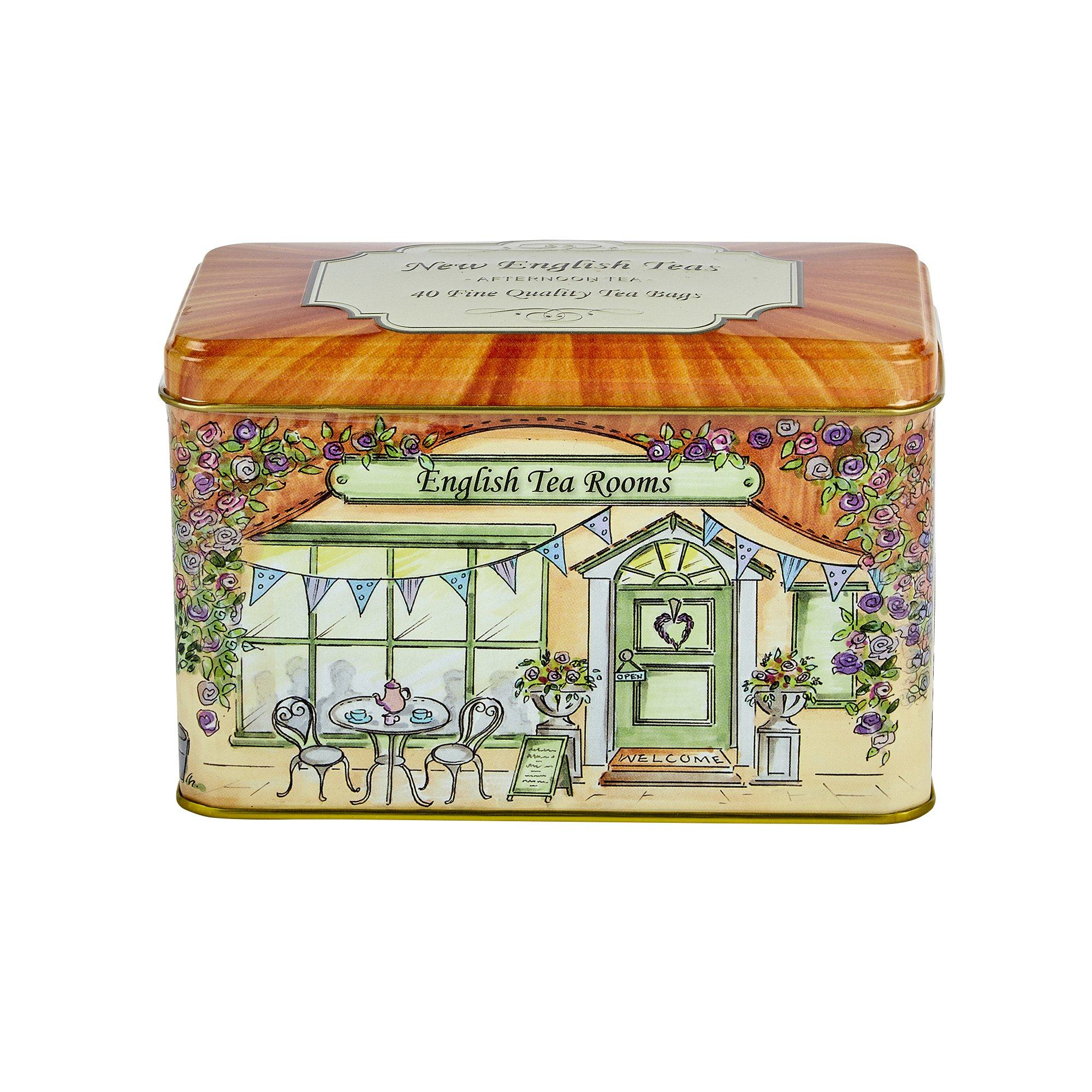 Vintage English Tea Rooms Afternoon Tea Tin 40 Teabags Black Tea New English Teas