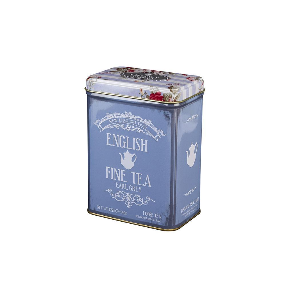 Floral Tea Tin with 125g loose-leaf Earl Grey Tea Black Tea New English Teas