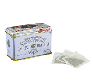 Vintage Floral Fine Earl Grey Tea Tin 40 Teabags Black Tea New English Teas