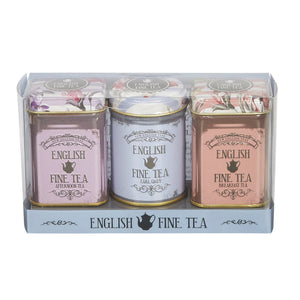 Vintage Floral Triple English Tea Selection Mini Tin Gift Pack Black Tea New English Teas