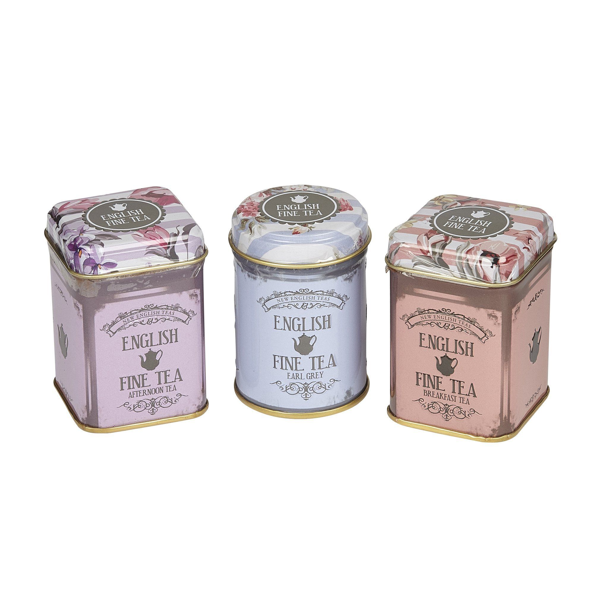 Floral Mini Tea Tin Gift with loose-leaf tea Black Tea New English Teas