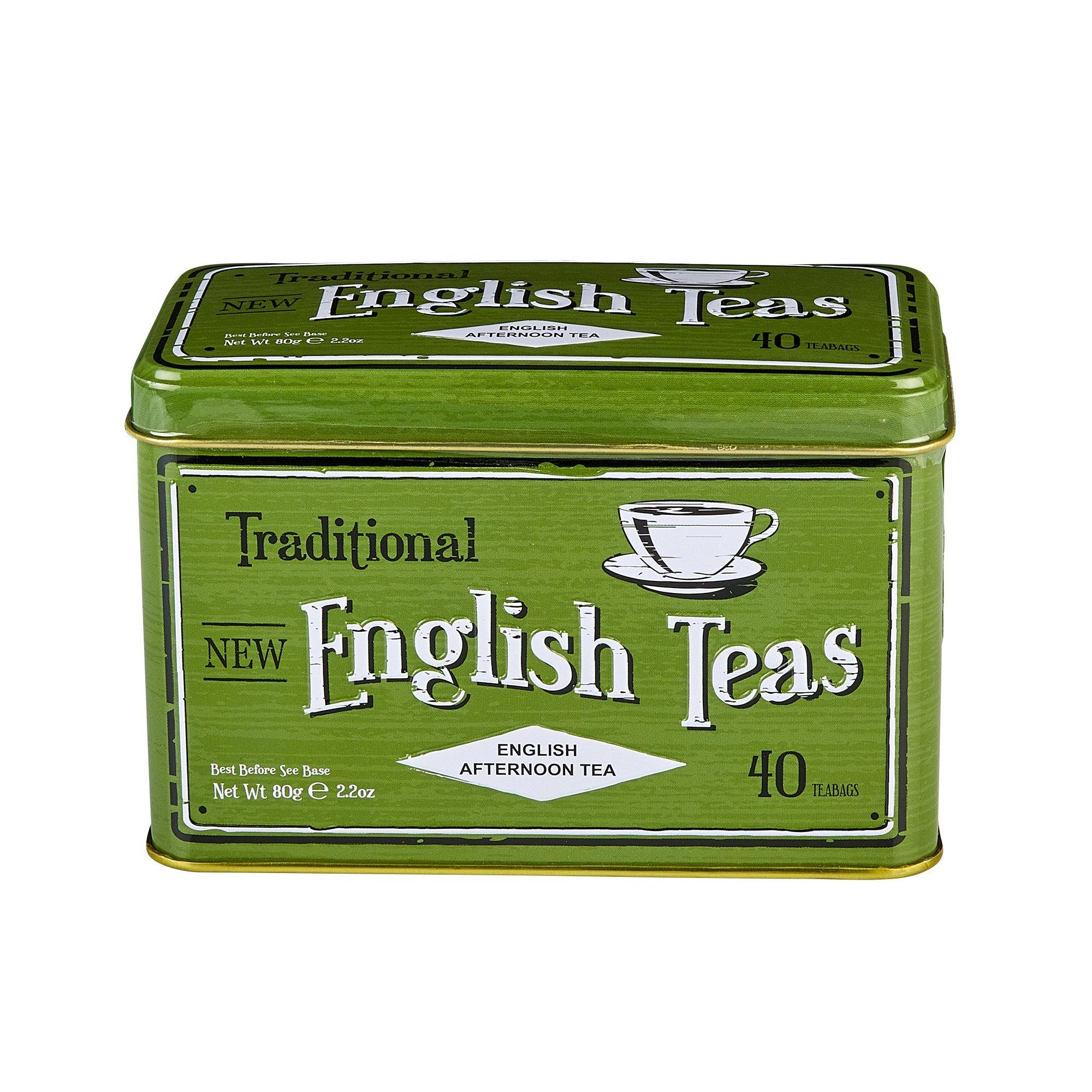 Vintage Selection English Afternoon Tea Tin 40 Teabags Black Tea New English Teas