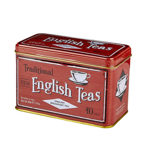 Vintage Selection English Breakfast Tea Tin 40 Teabags Black Tea New English Teas