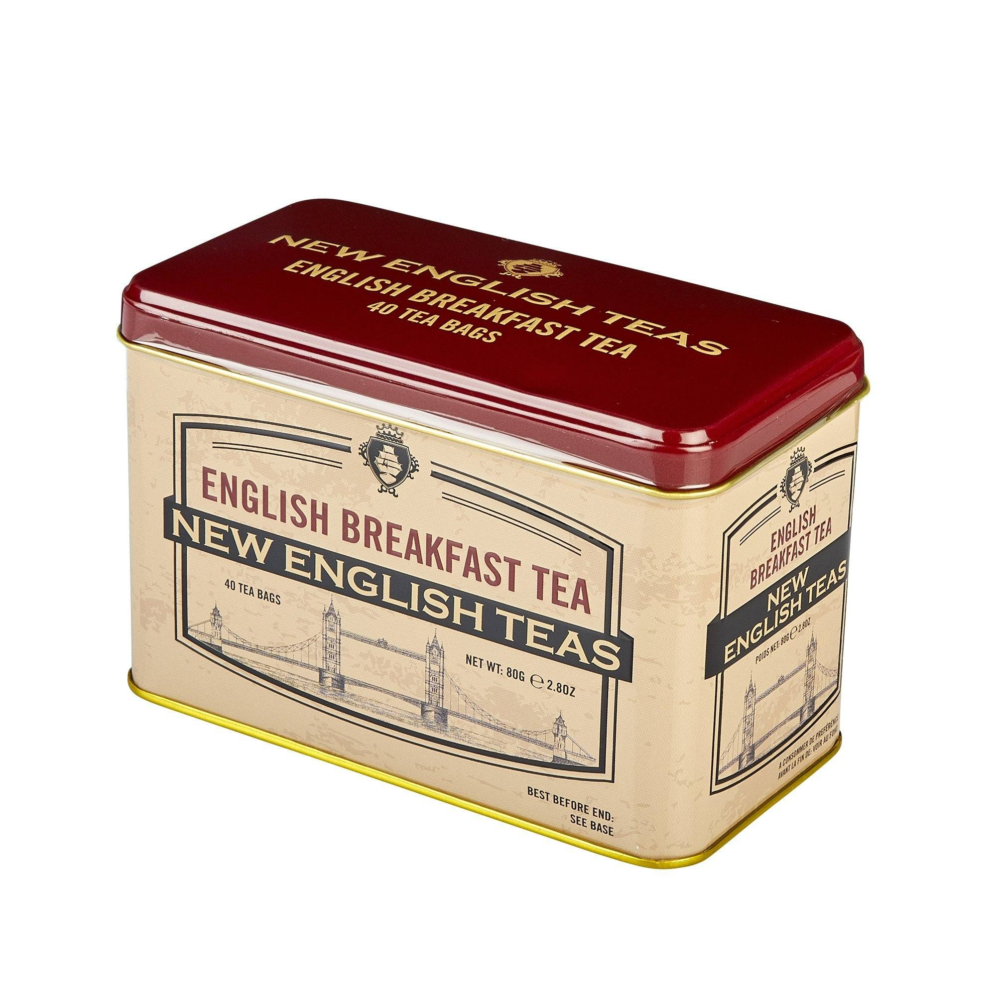 Vintage Selection Tower Bridge English Breakfast Tea Tin 40 Teabags Black Tea New English Teas