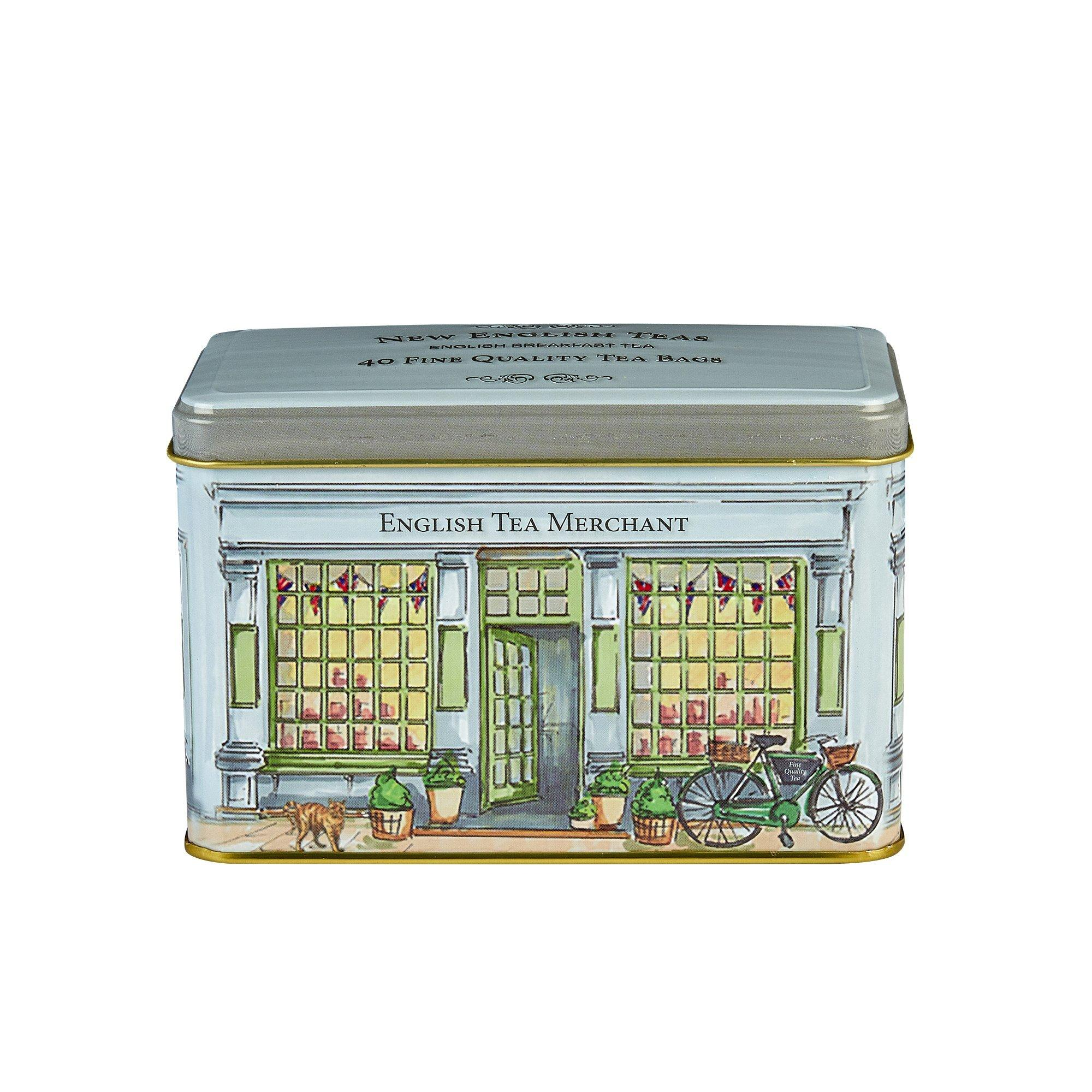 Vintage Tea Merchants English Breakfast Tea Shop Tin 40 Teabags Black Tea New English Teas