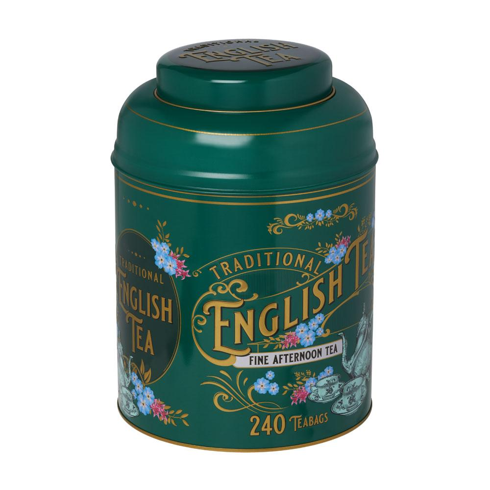 Vintage Victorian Tea Tin with 240 English Afternoon teabags Black Tea New English Teas