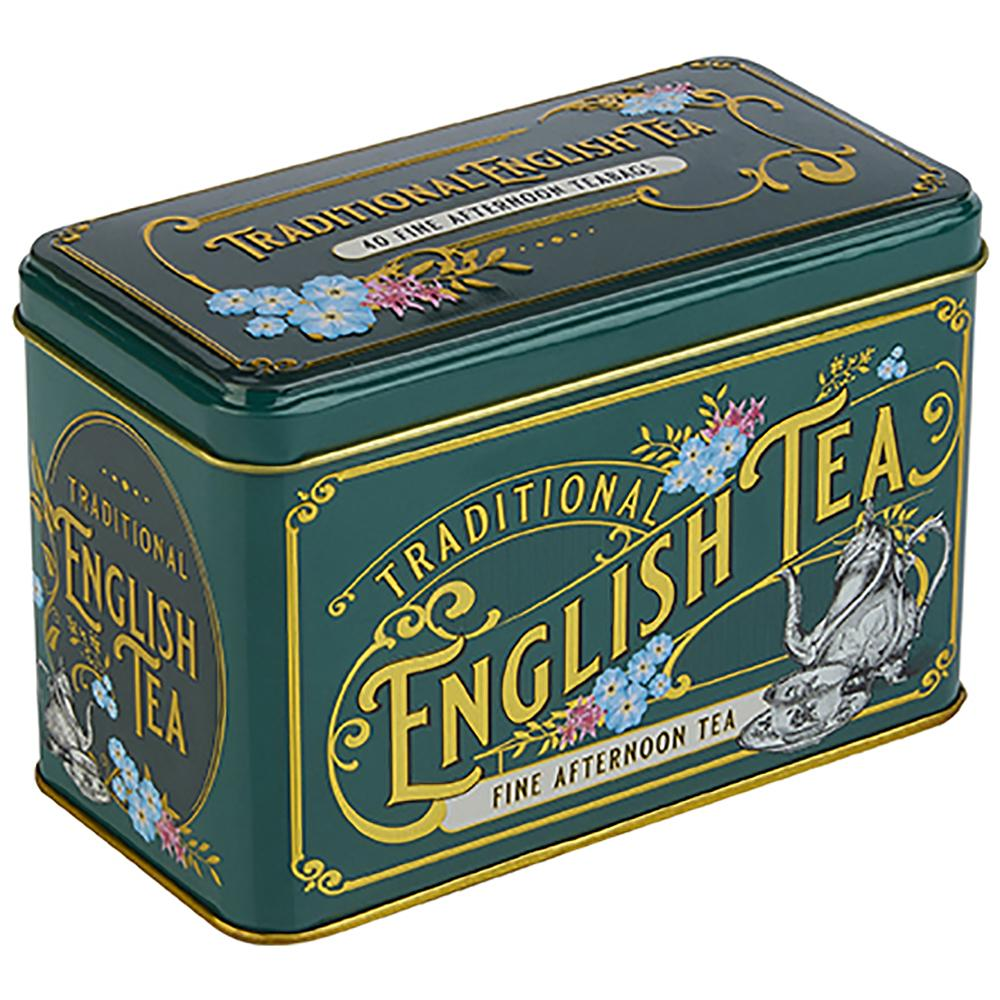 Vintage Victorian English Afternoon Tea Tin 40 Teabags Black Tea New English Teas