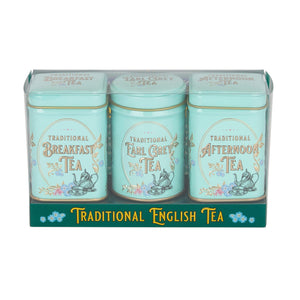 Vintage Victorian Mini Tea Tin Triple Gift Pack Black Tea New English Teas