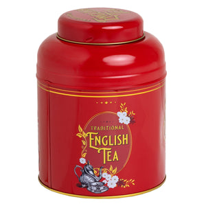 Vintage Victorian Tea Caddy, in red, with 80 English Breakfast Teabags Black Tea New English Teas