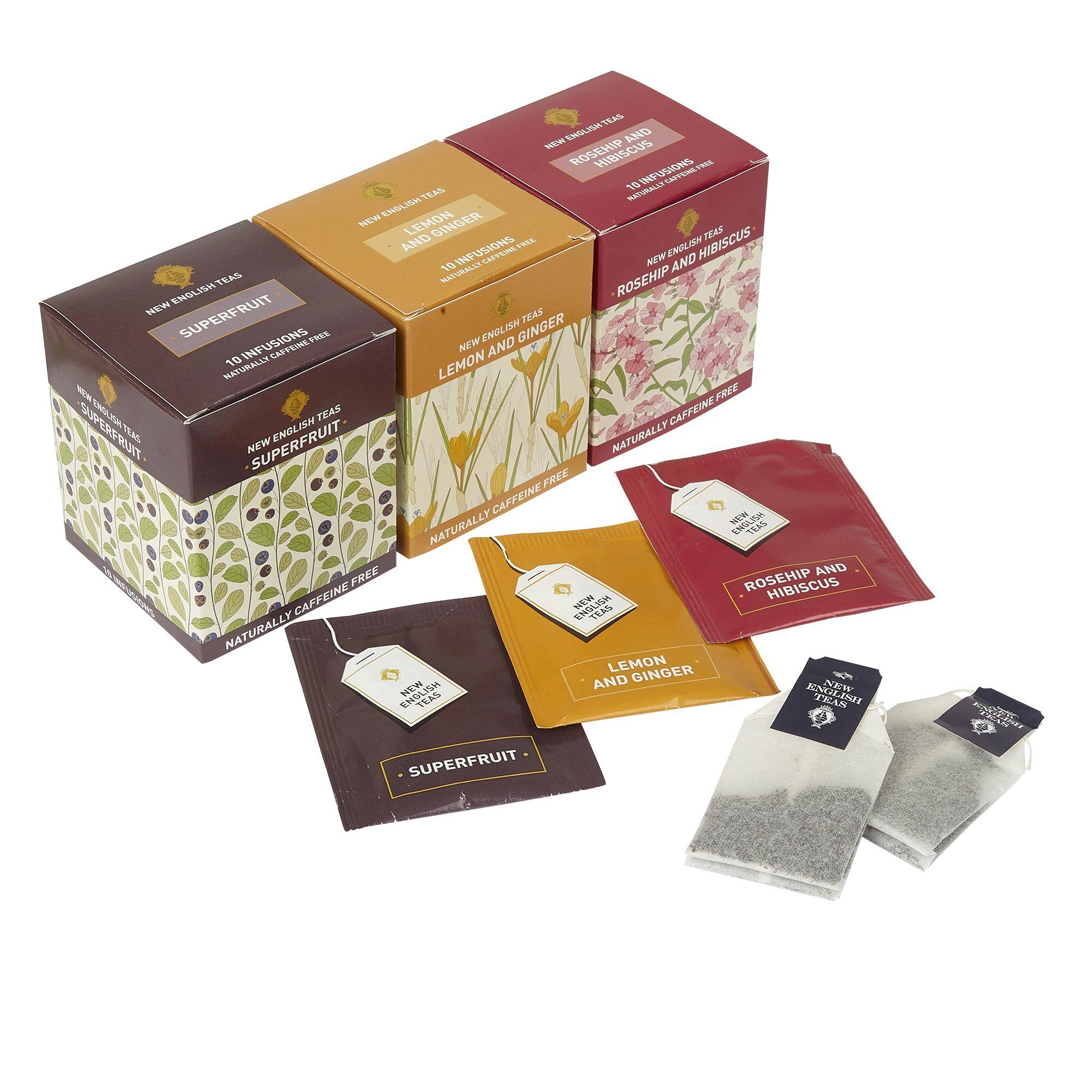 Wellbeing Tea Selection Boost Me 30 Teabags Fruit Tea, Herbal Tea New English Teas