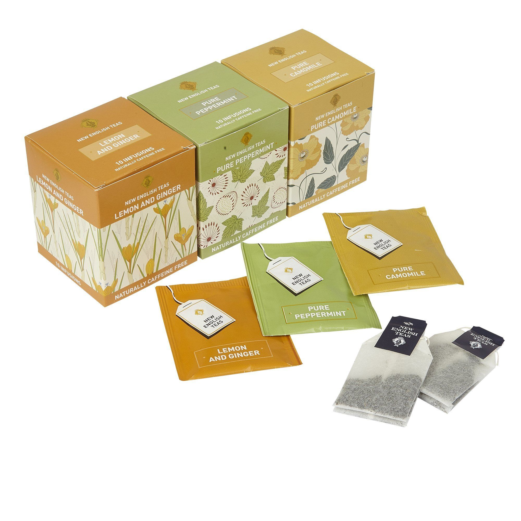 Wellbeing Tea Selection Calm Me 30 Teabags Fruit Tea, Herbal Tea New English Teas