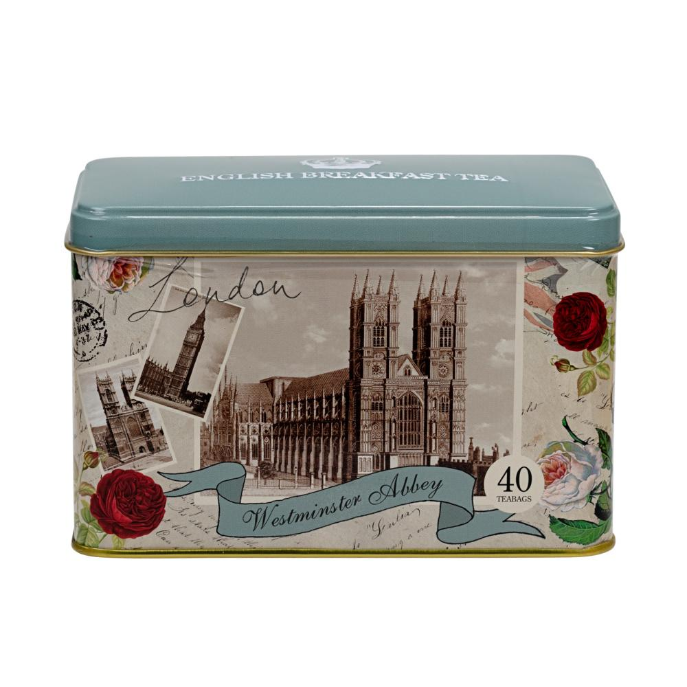 Westminster Abbey Tea Tin with English Breakfast Teabags Black Tea New English Teas
