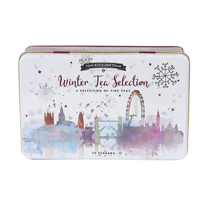 Winter Wonderland Christmas Tea Tin 72 Teabags Black Tea New English Teas