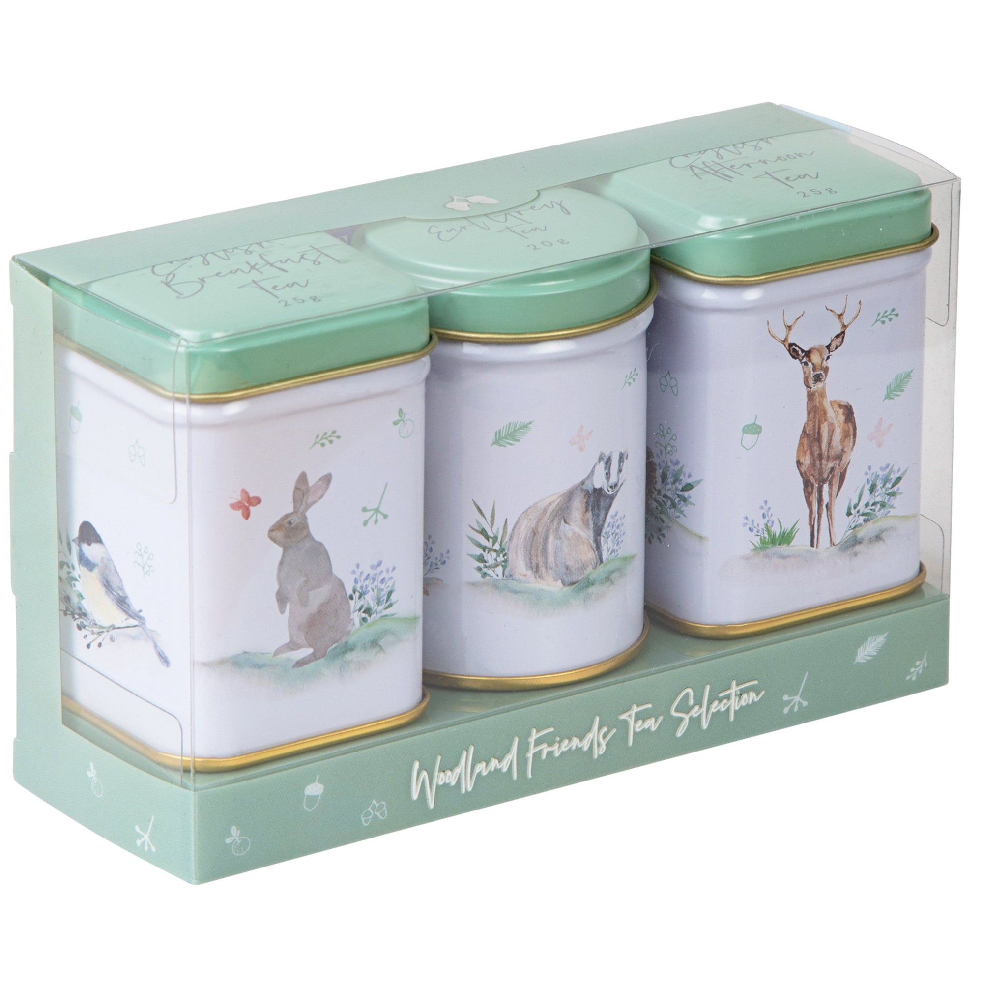 Woodland Friends Mini Tea Tin Gift Pack Black Tea New English Teas
