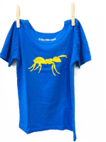 Short Sleeve Ant Shirt Electric Blue
