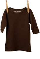 3/4 Sleeve Shirt Brown