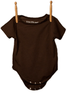 Short Sleeve Bodysuit Brown